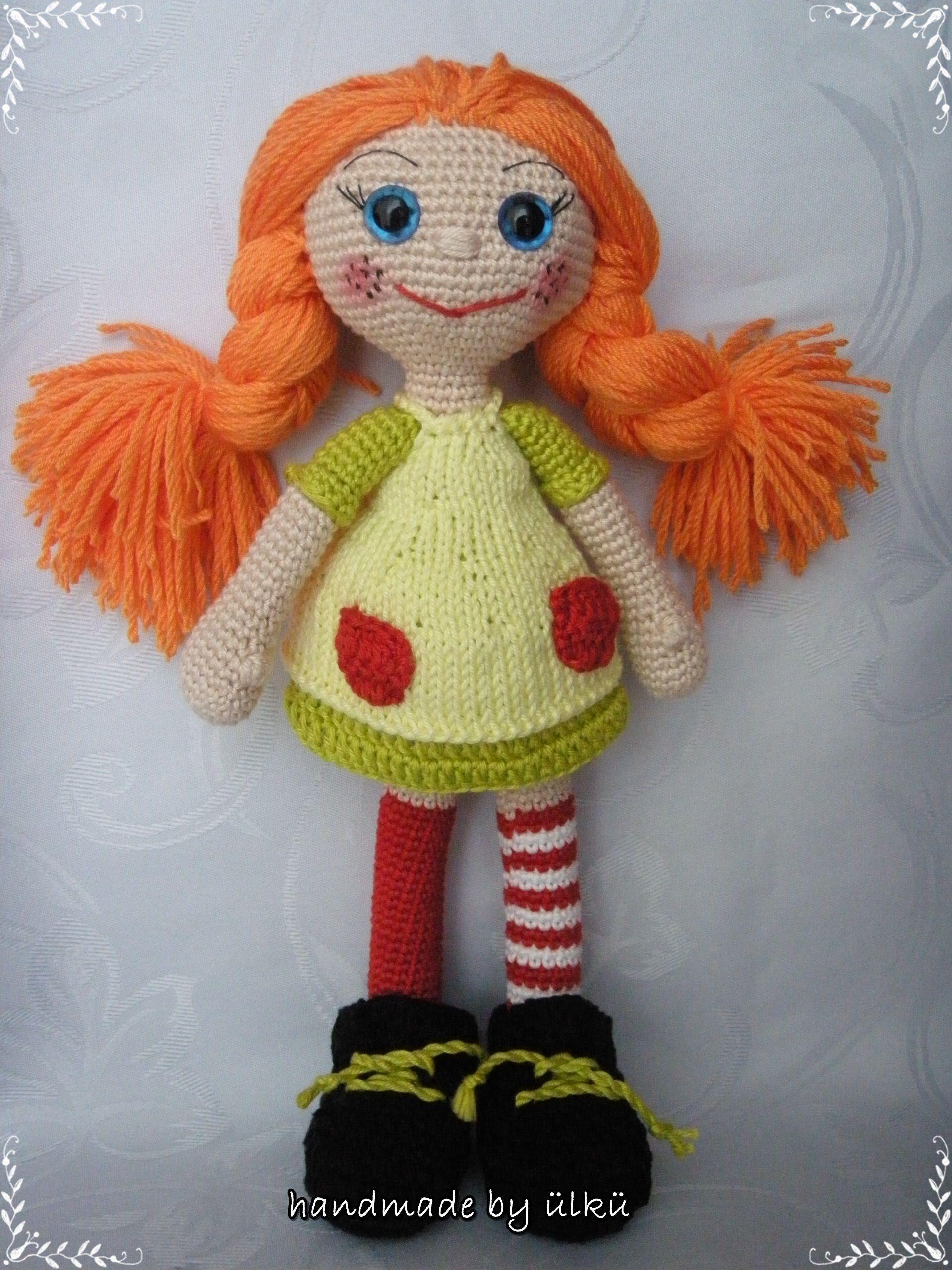 amigurumi crochet doll pippi longstocking h keln crochet puppen h keln und stricken. Black Bedroom Furniture Sets. Home Design Ideas