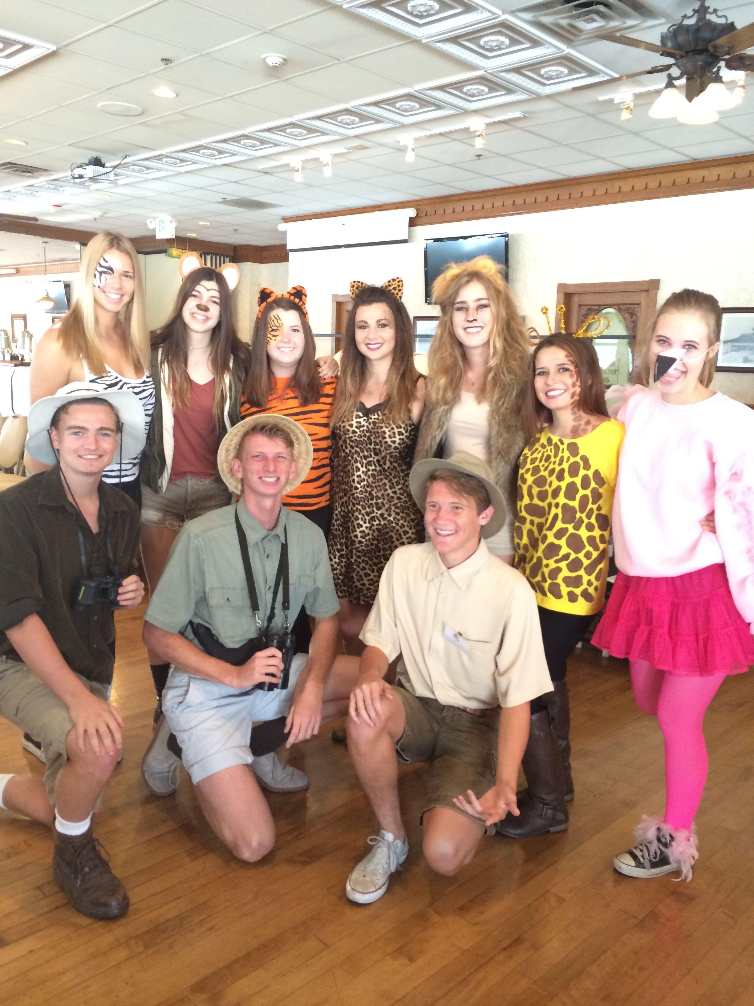 Safari animals group Halloween costume Halloween
