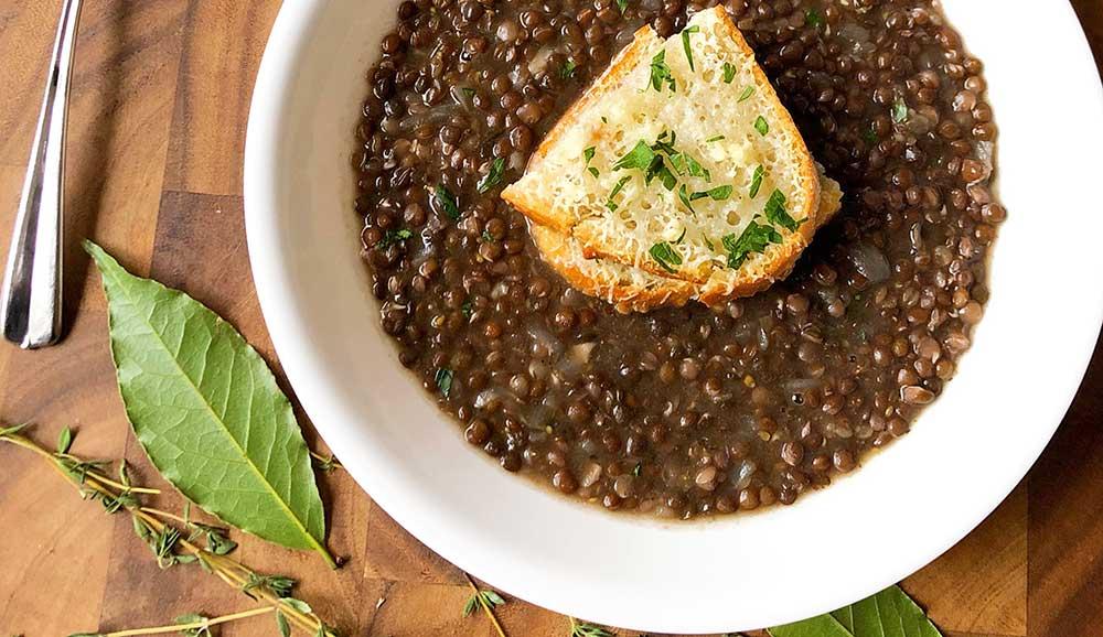 Easy Herb Black Lentil Soup BFit BFly in 2020 Lentil