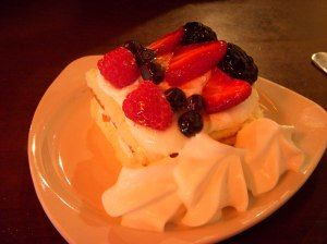 Tri-Berry tort from Saffron Bakery Charleston, SC southernfoodroadtrip