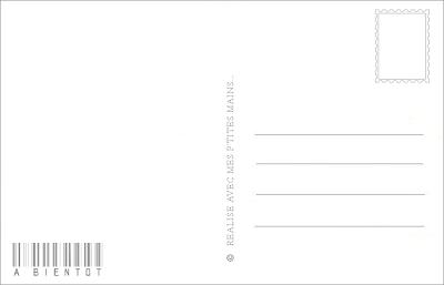 Verso Carte Postale à imprimer en 2020 | Carte postale, Carte, A imprimer