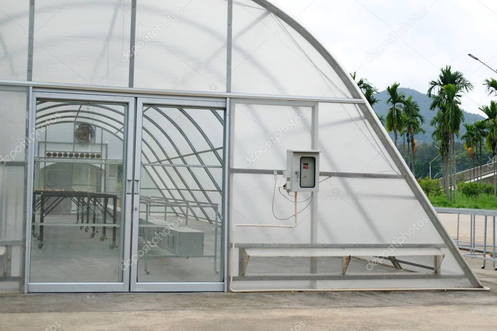 Sun solar dryer greenhouse for drying food by sunlight. - Stock Photo , #AFF, #dryer, #greenhouse, #Sun, #solar #AD