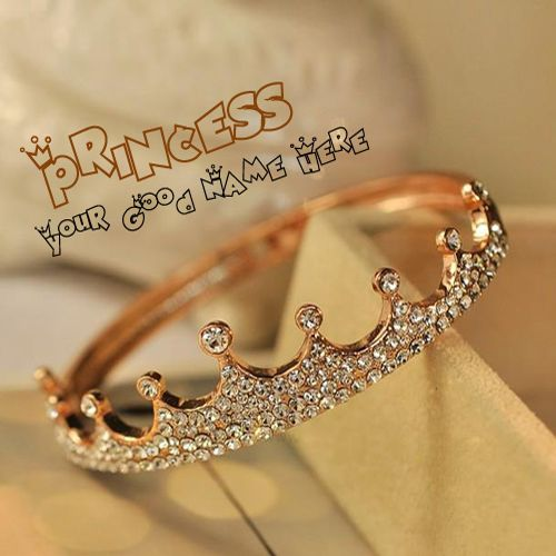 Get Your Name In Beautiful Style On Princess Crown Picture You Can