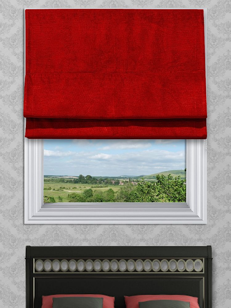 Roman Blinds Made To Measure Online Blind Wilsons Mille Red
