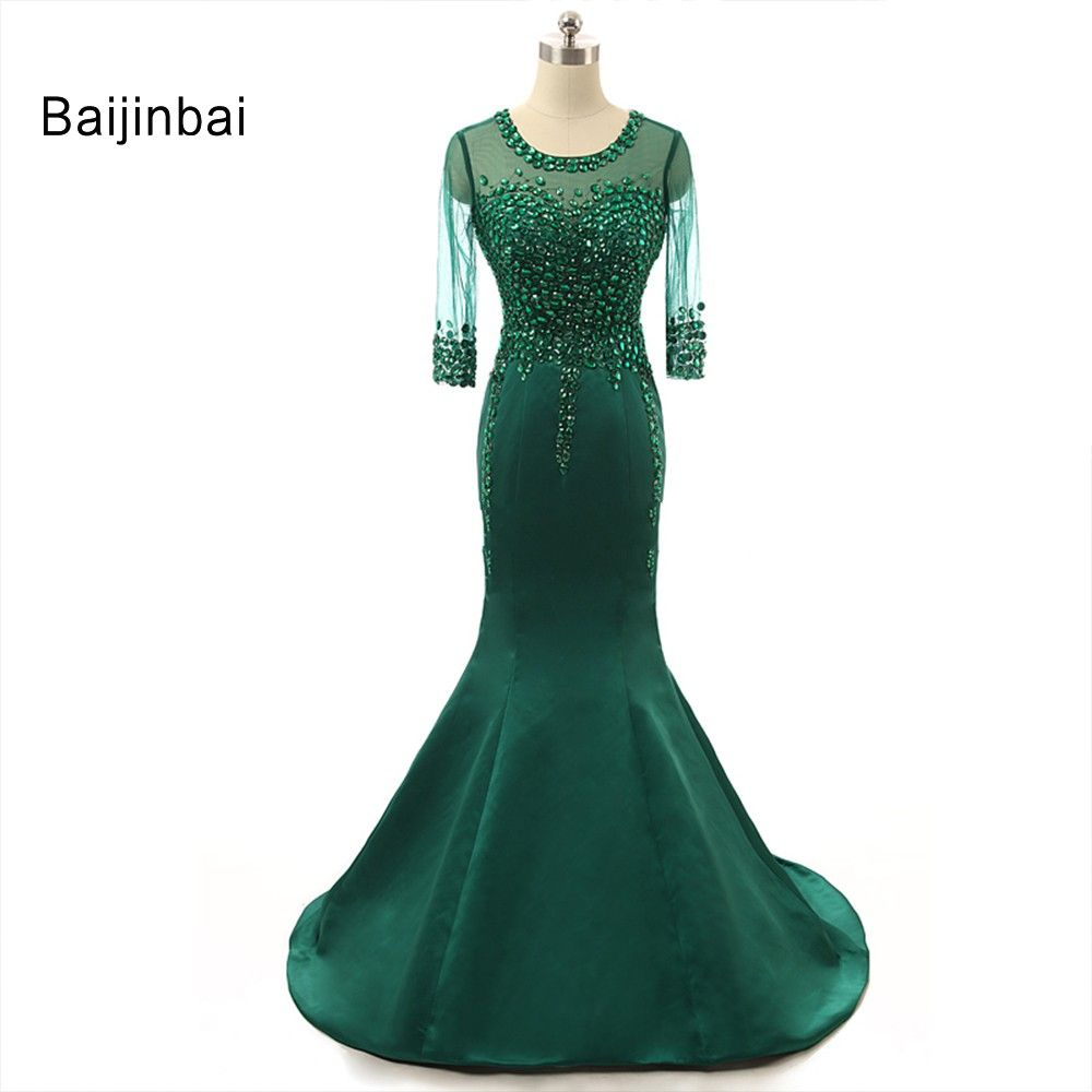 Free shipping buy best baijinbai real half sleeve robe de soiree