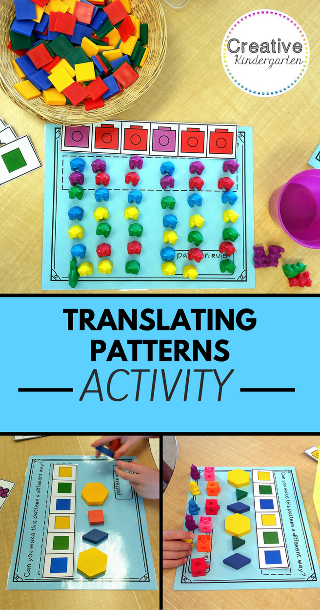 Translating Patterns in Kindergarten   Tpt sellers   Pinterest ...