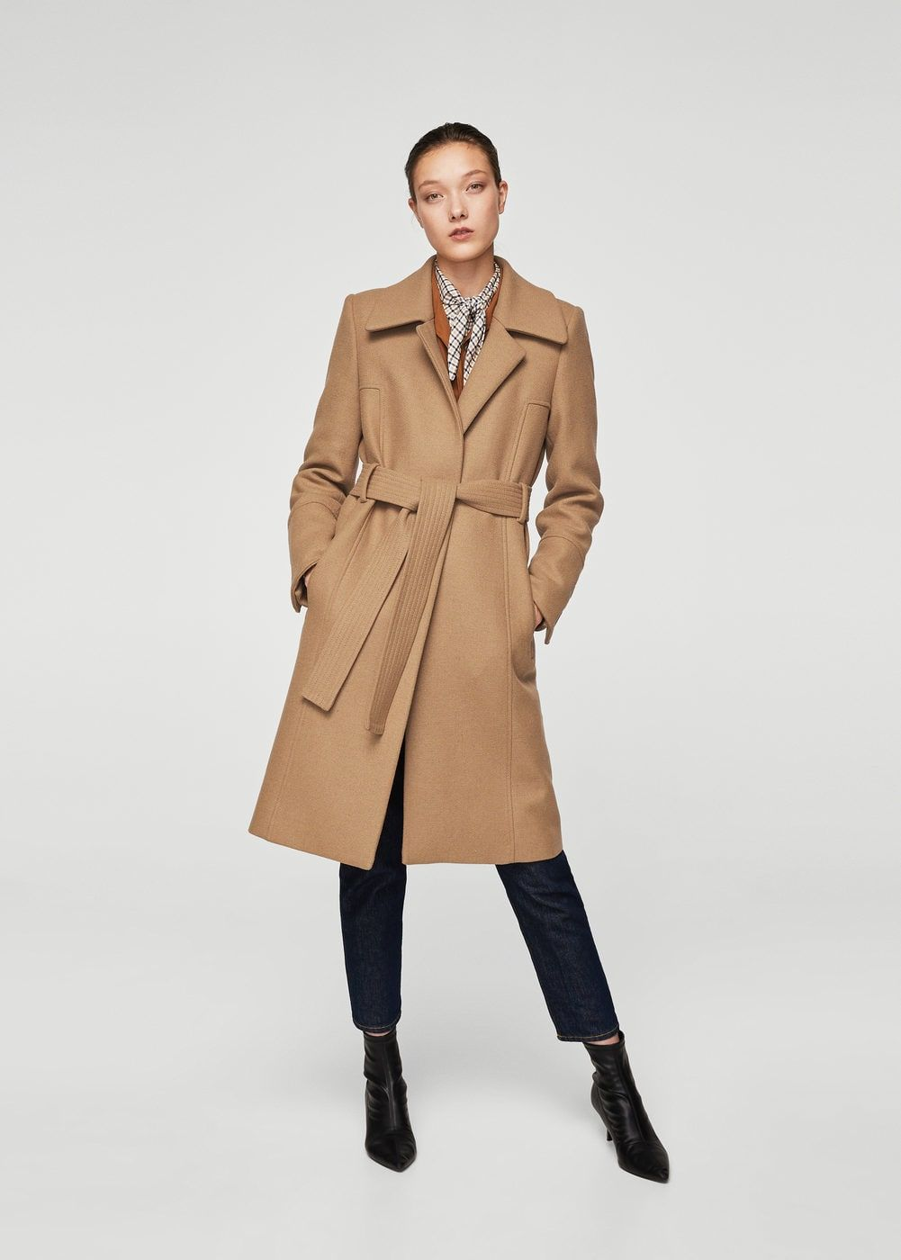 Manteau en laine avec ceinture - Femme   Fashion - jackets   Manteau ... 7a6de11c6f5