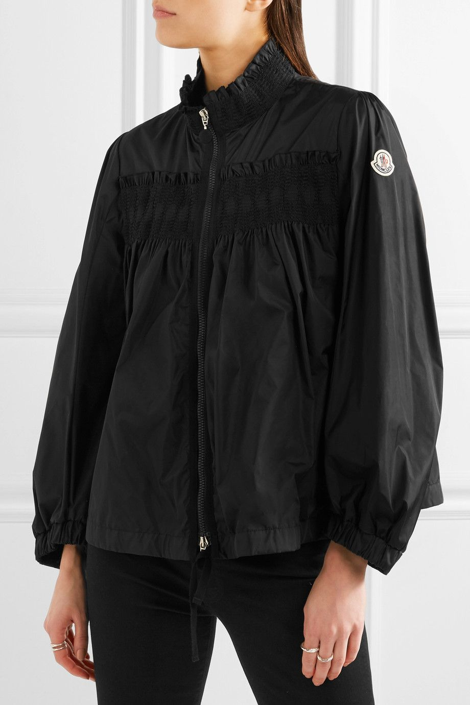 4e73d9adaa Moncler - Ruffled shirred shell jacket | ruffle | Jackets, Moncler ...