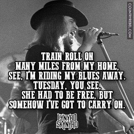 Tuesday's Gone With The Wind My Baby's Gone With The Wind Lynyrd Magnificent Ronnie Van Zant Quotes