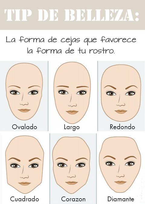 Cejas Segn La Forma De Tu Rostro Beauty Tips Maquillar