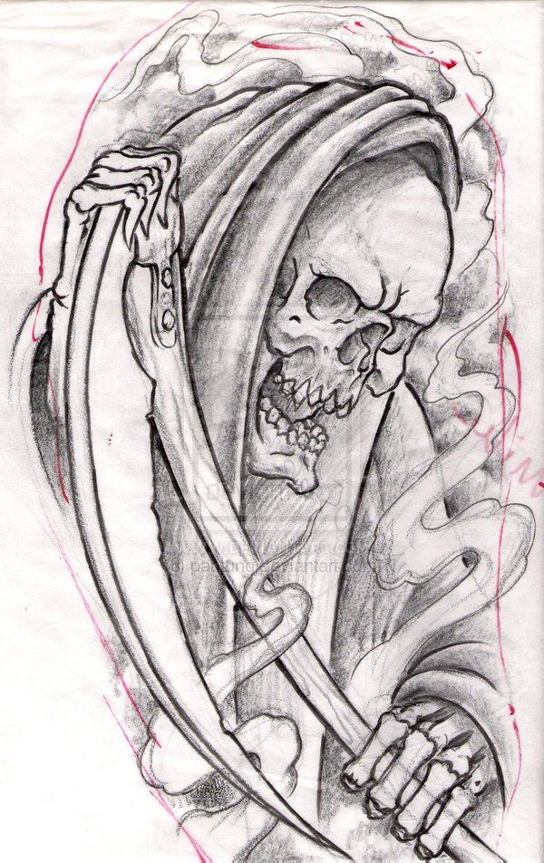 death grim reaper tattoo designs click on the picture to. Black Bedroom Furniture Sets. Home Design Ideas