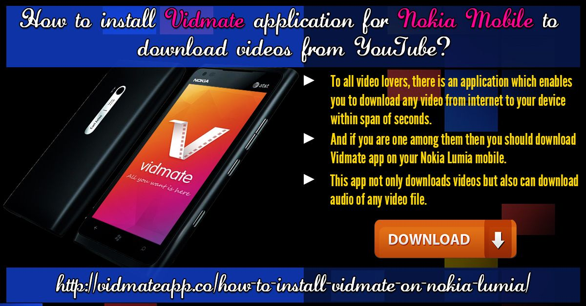 Pin de vidmate app em how to install vidmate on your nokia lumia baixar vdeo internet aplicativo youtube vdeos ccuart Image collections