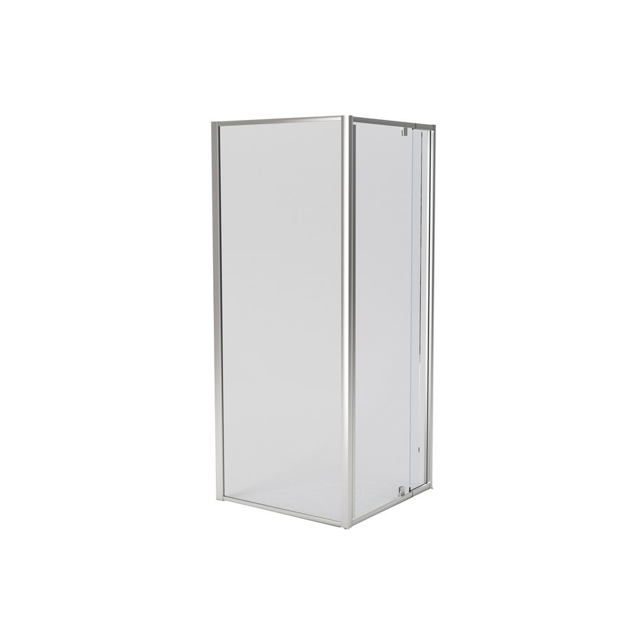 American Standard Axis 30 25 In To 31 25 In Silver Pivot Shower