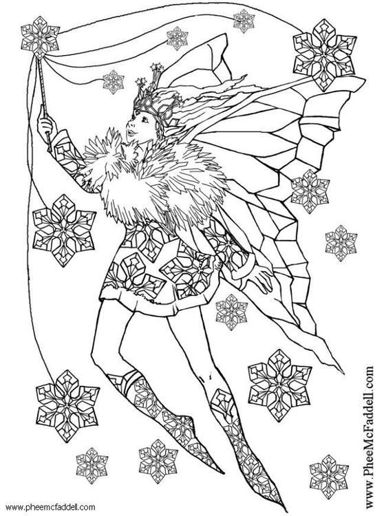 Coloring Page Snowflake Fairy Img 6117 Fairy Coloring Pages Fairy Coloring Coloring Pages