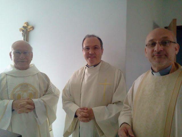 P. Benjamín Pereira, P. Javier Arteaga y P. Francisco Pistilli