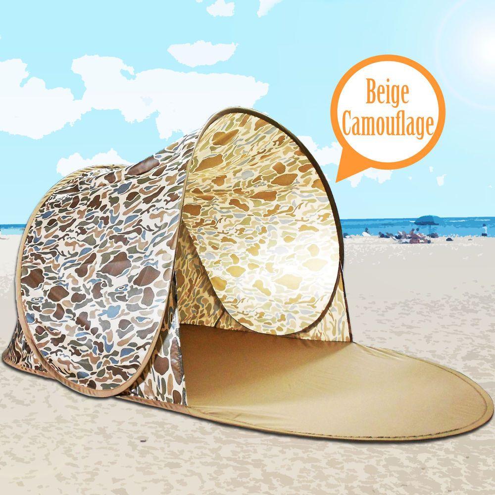 Beige Portable Camouflage Pop Up Beach Shelter Outdoor Sun Shade Tent Canopyu2026  sc 1 st  Pinterest & Beige Portable Camouflage Pop Up Beach Shelter Outdoor Sun Shade ...