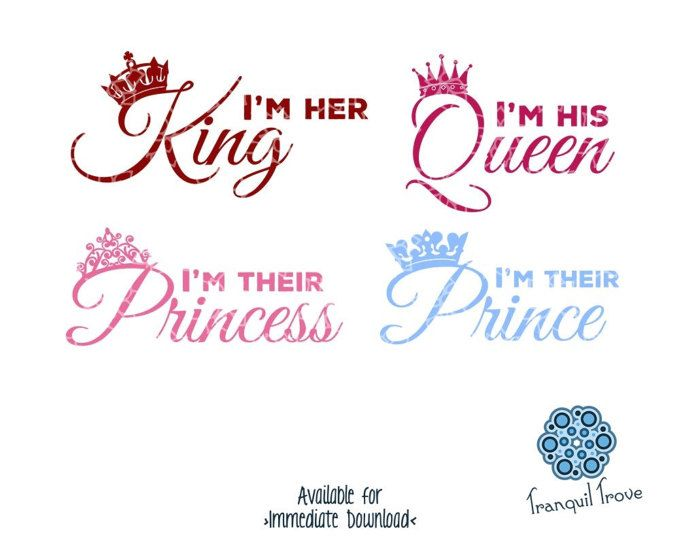 His Queen Her King Svg.King Queen Prince Princess Shirts Matching Family T Shirts
