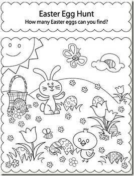 Activity Sheet Hunt For Easter Eggs