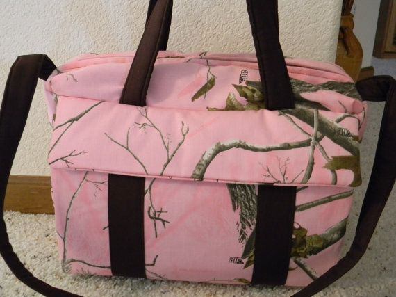 Pink Realtree Camo Diaper Bag W Change Pad By Emijane Free Embroidered Name On Etsy 47 00