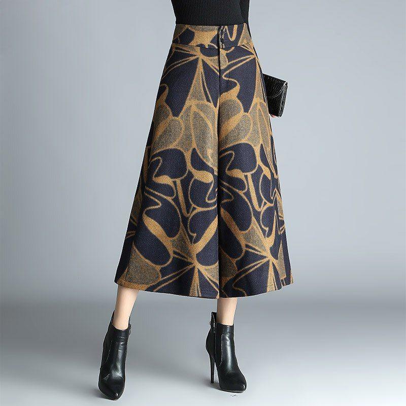 3f29b7ae30e9 Femme Printemps Automne Plus La Taille Haute 20% Laine Épais Cheville  longueur Pantalon Femelle D