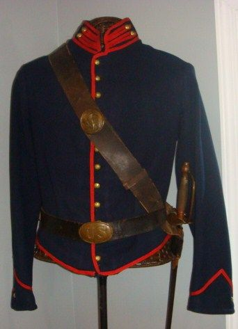 union artillery shell jacket with, belt rig,breast plate
