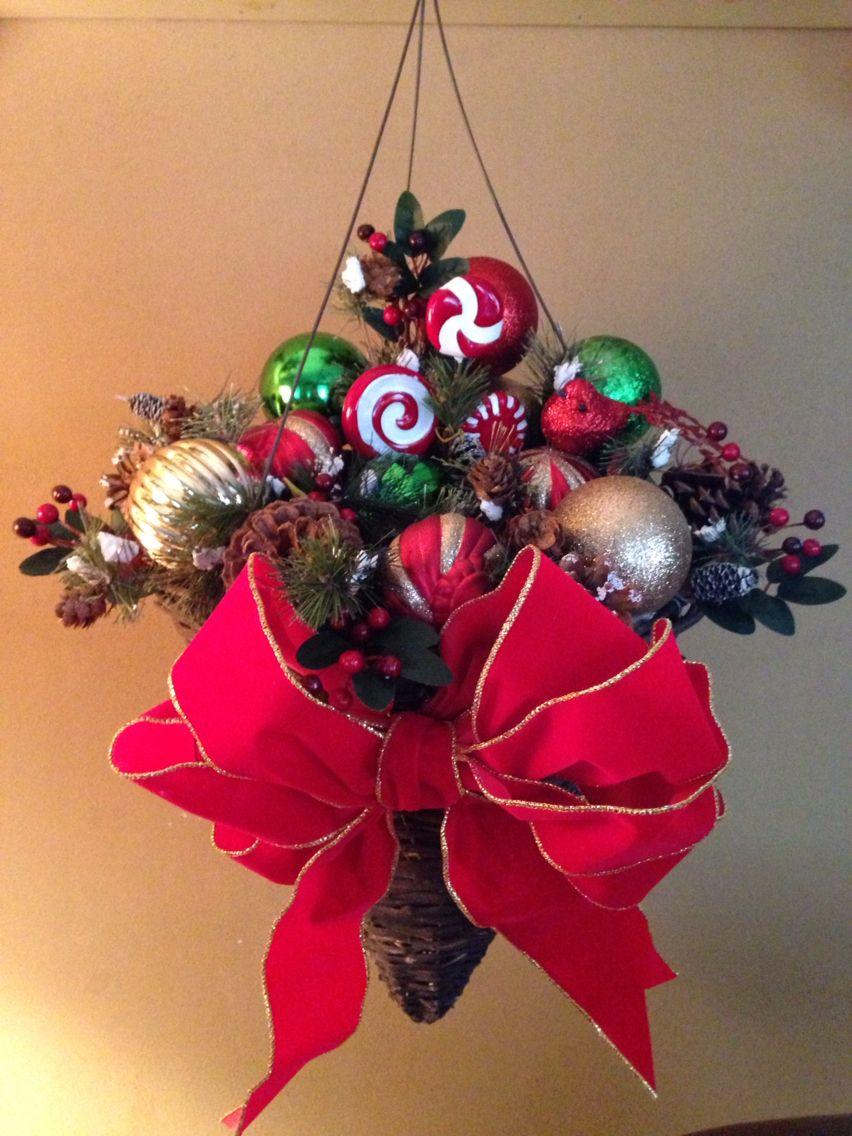 Hanging Christmas Basket