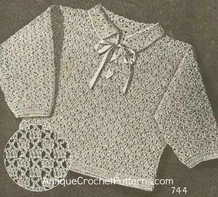Crochet Sweater Pattern Childs Jackie Sweater Crochet