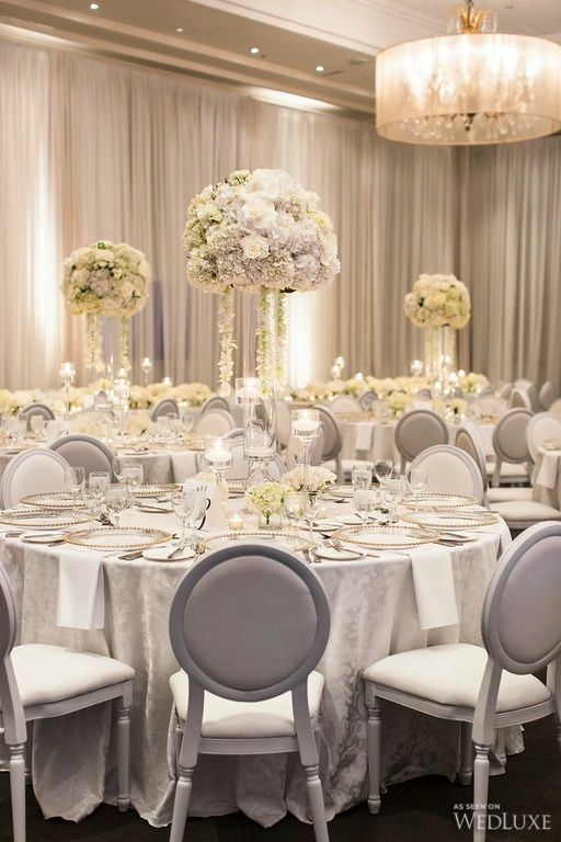 A gorgeous, all-white wedding featured in our current issue - WedLuxe Magazine
