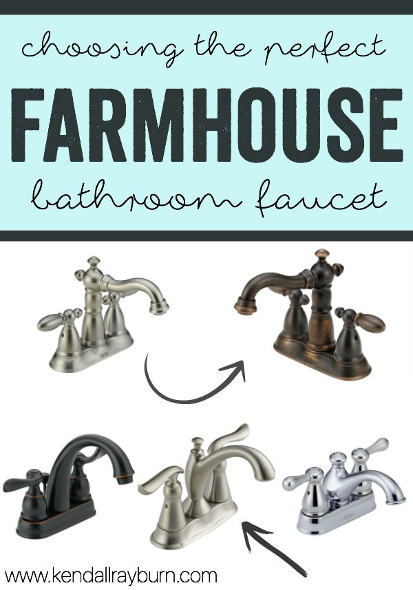 farmhouse faucet - Choosing the perfect bathroom faucet! | Faucet ...