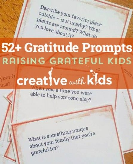 Gratitude Journal Prompts For The Whole Year Journal Prompts For Kids Teaching Gratitude Gratitude Journal Prompts