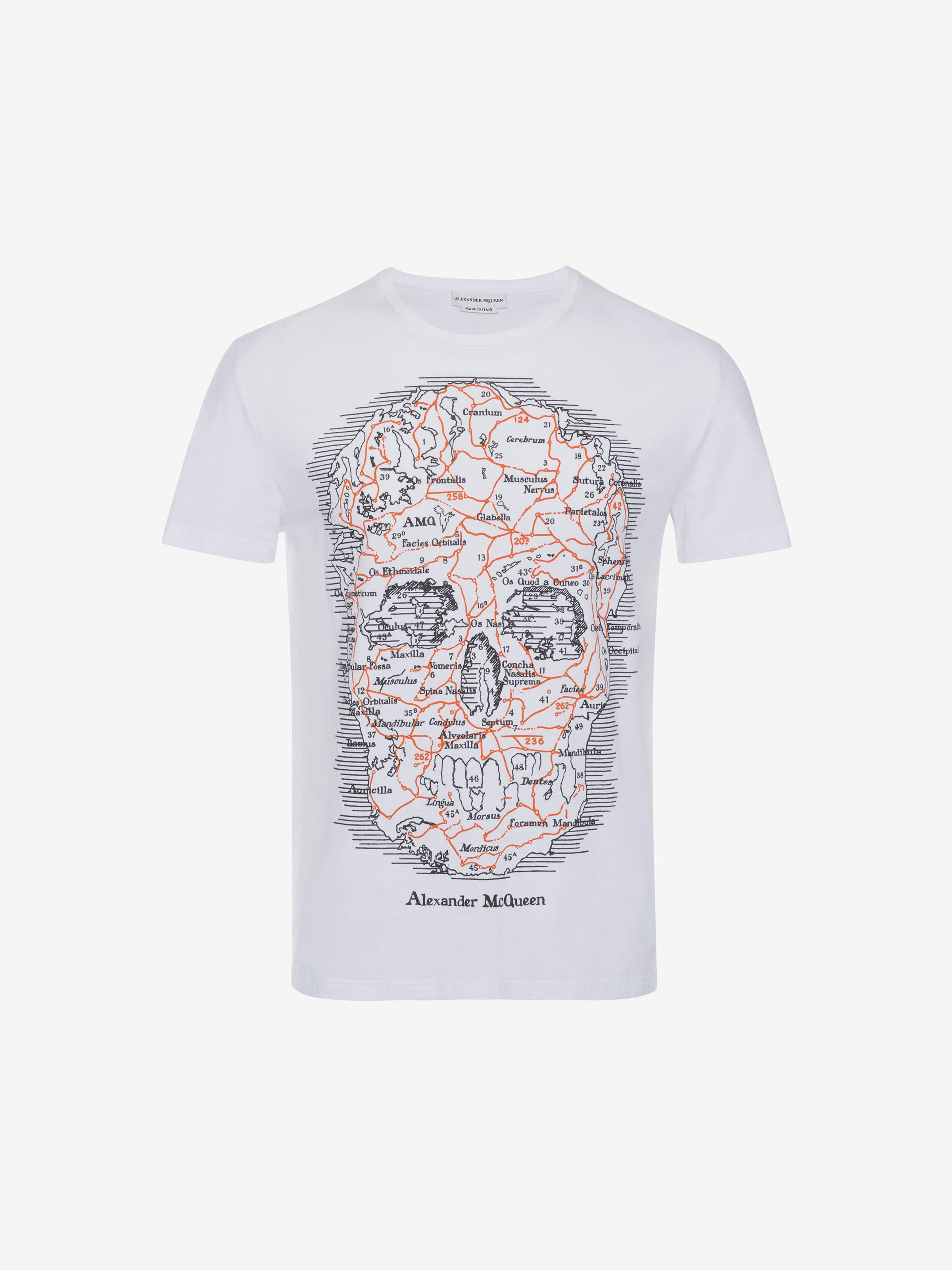 bc31ab8cd Alexander Mcqueen Map Skull T-Shirt - Black/Multicolor Xs | Products ...