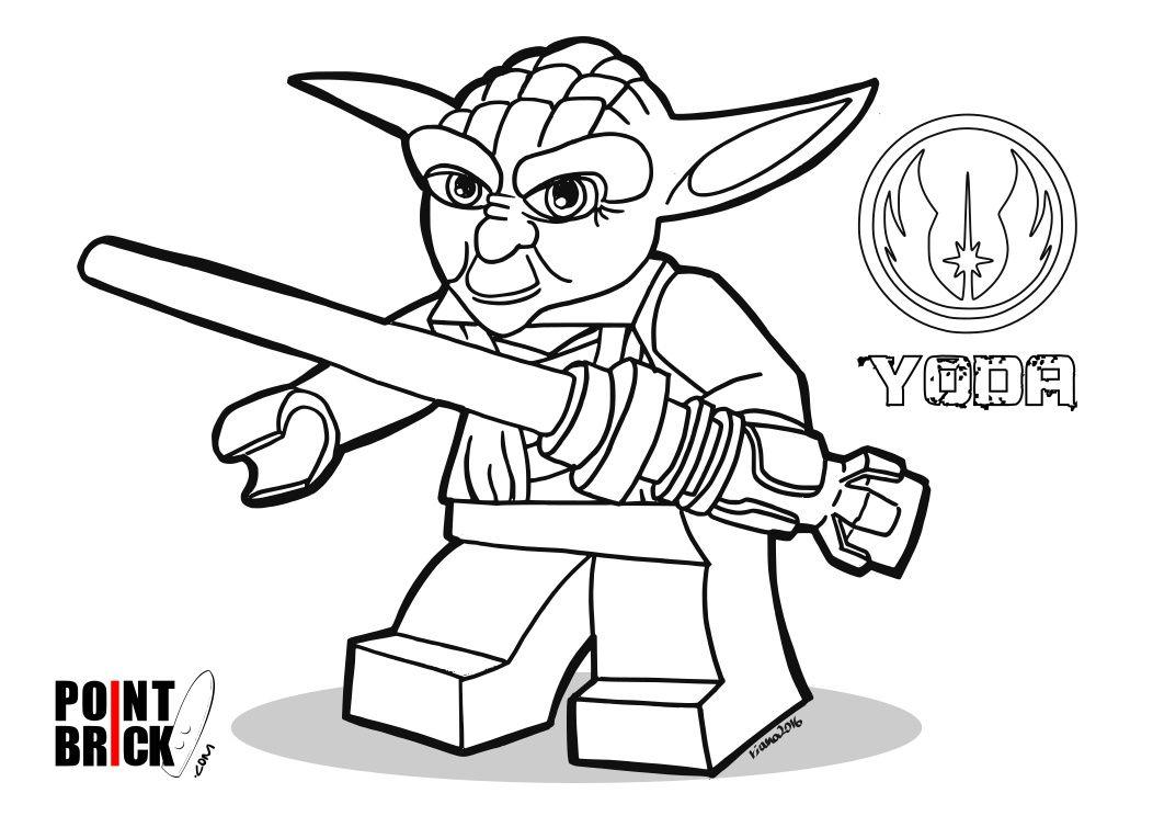 Coloring Pages / Disegni da Colorare LEGO Star Wars Yoda
