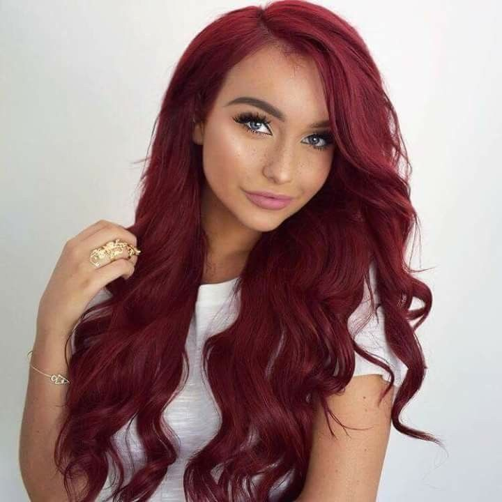 Red Hair Color By Aaliyah Gates On Color Burgundy Hair Burgundy