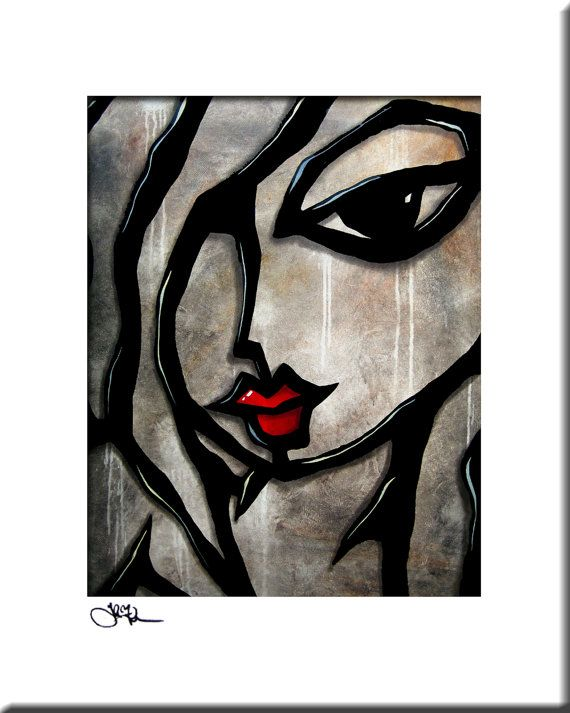 Très Weathered - Original Abstract painting Modern pop Art print  KB78