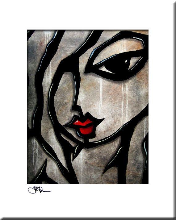 Très Weathered - Original Abstract painting Modern pop Art print  KB78