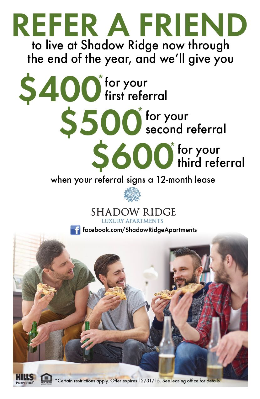 referral bonus flyer
