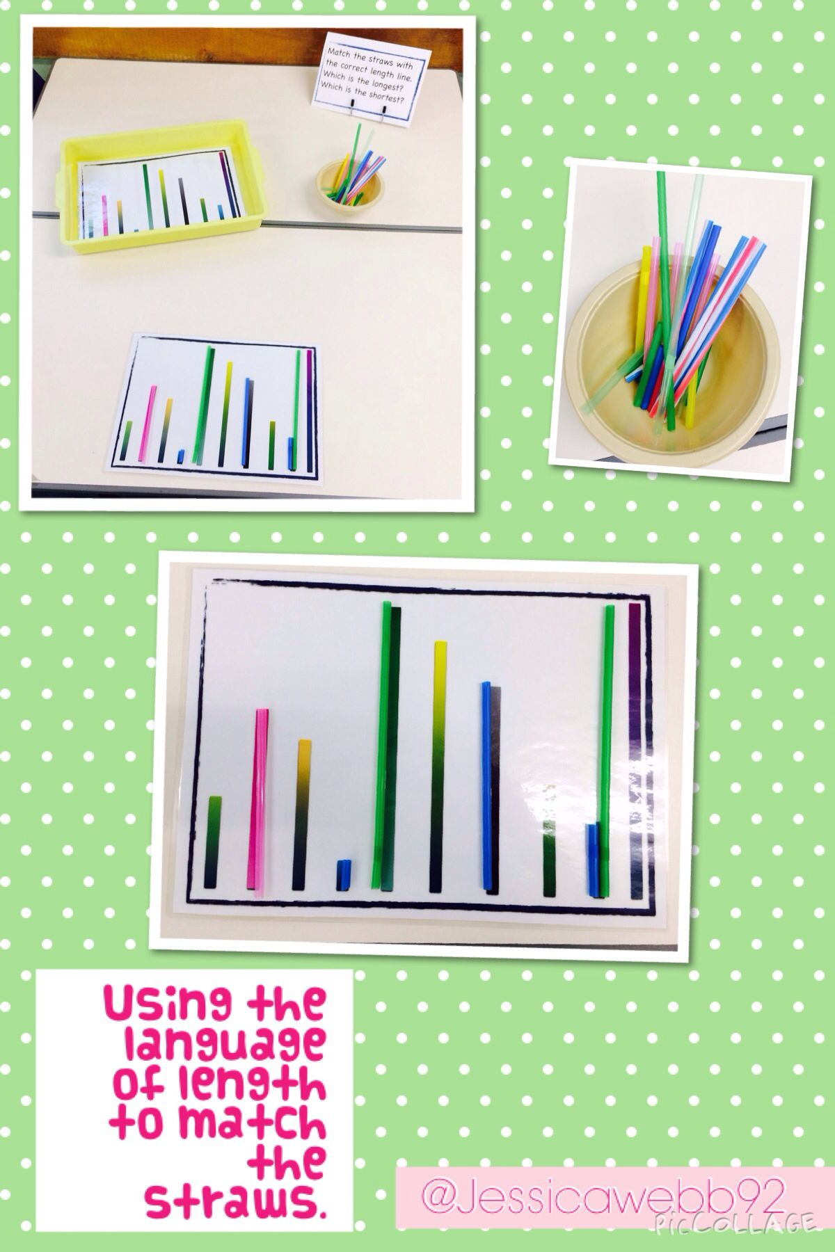 Develop The Language Of Length By Matching Different Lengths Of Straws Eyfs
