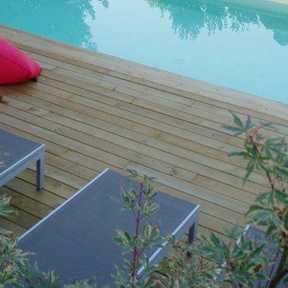 Kit terrasse 50m² pin autoclave lisse #terrassebois Pinterest - terrasse bois sur plots reglables