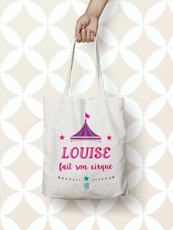sac cabas tote bag cirque cadeau anniversaire mettre en valeur ses v tements id es flex. Black Bedroom Furniture Sets. Home Design Ideas