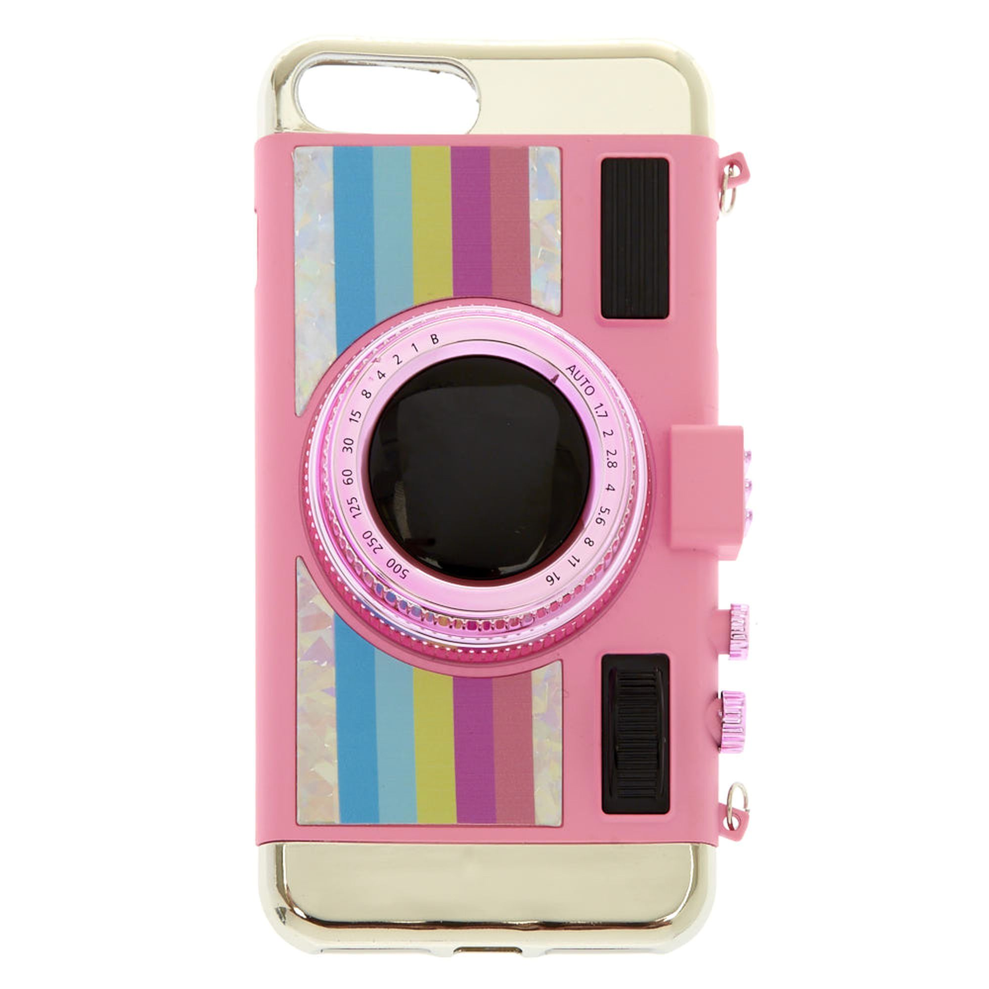 best sneakers 80afb ffd68 Pink Retro Camera Phone Case | Claire's FR | CECE'S BABE | Iphone ...