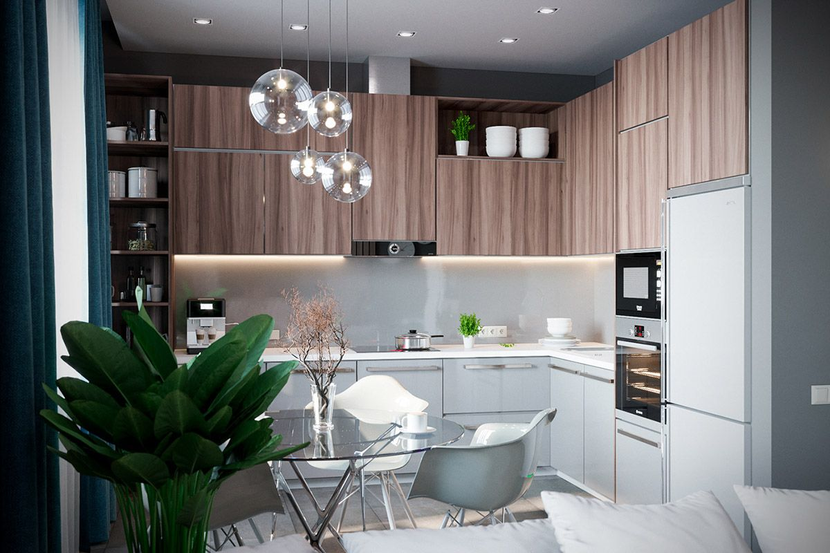 Grey based decor with warming accent colours kitchen pinterest