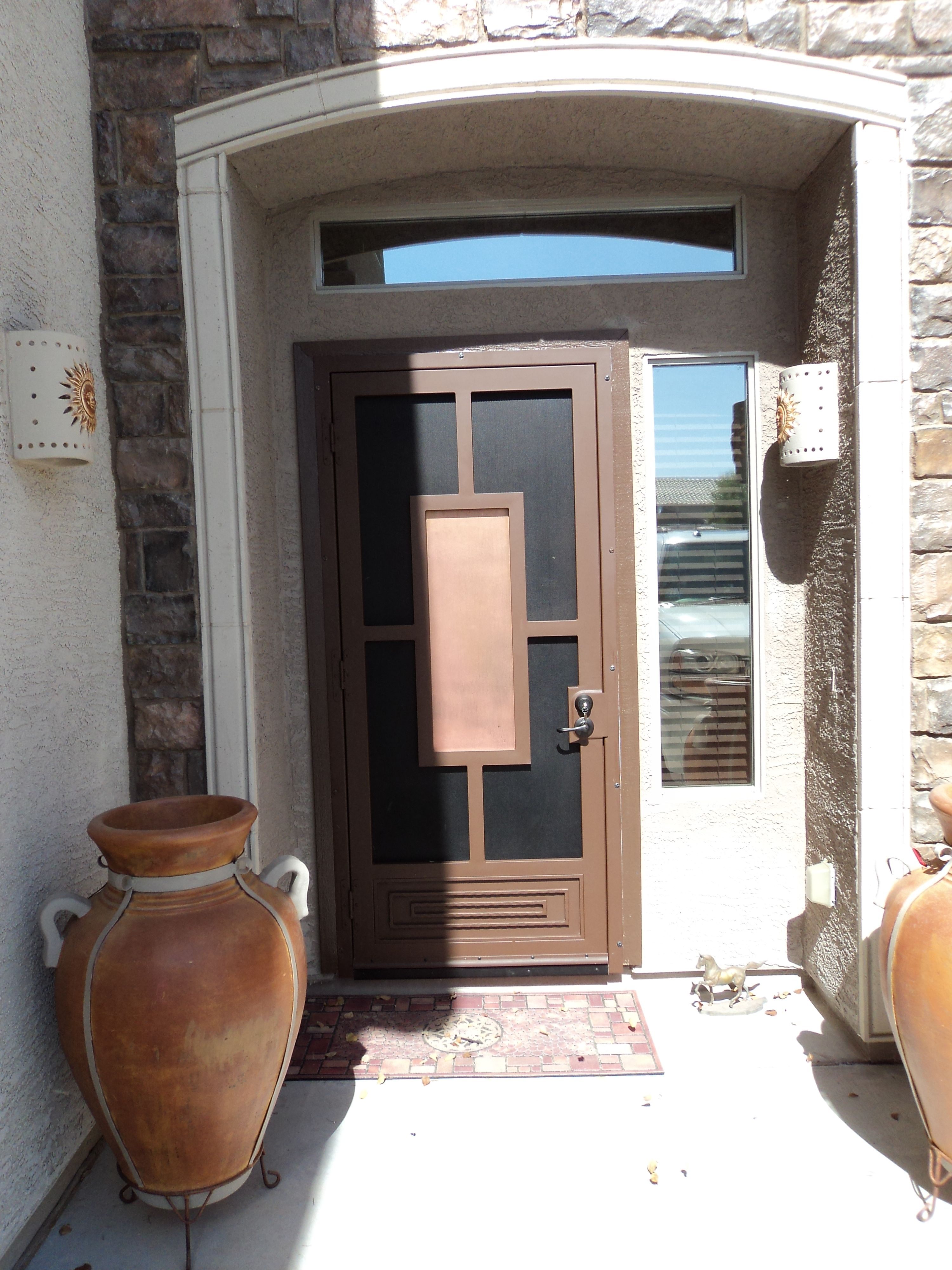 A Custom Security Screen Door That Flows With The Existing Aesthetics And Provides Security And Privacy Sec Security Screen Door Screen Door Security Screen