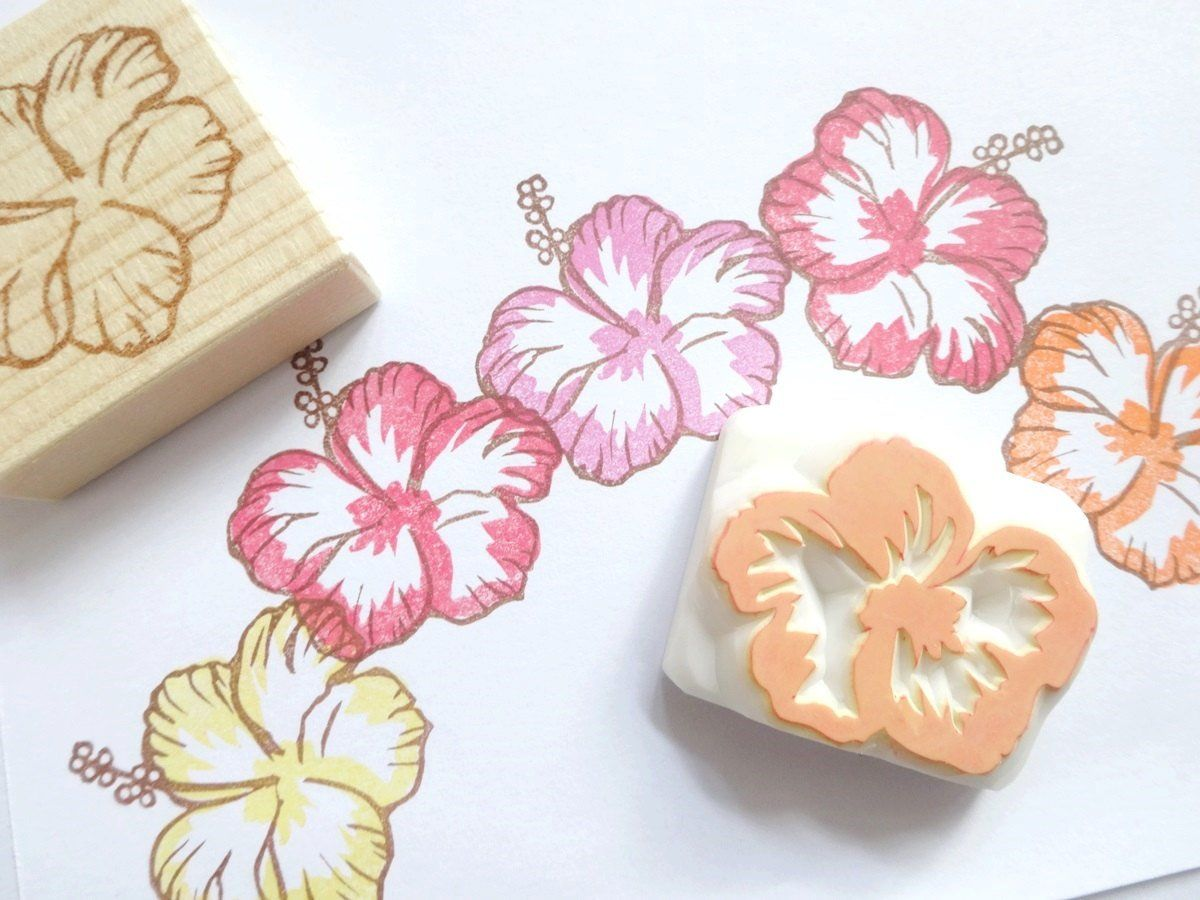 Pin by Carolyn on Hawaiian Flower Flower stamp, Hibiscus