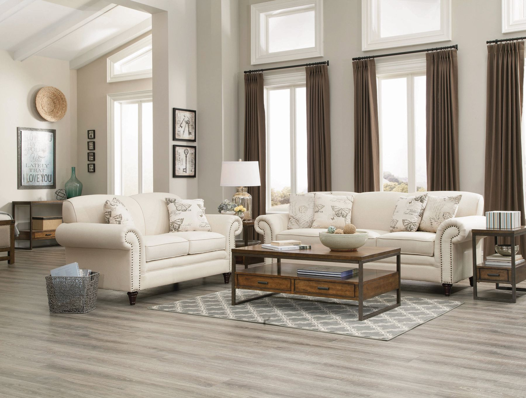 49 Fabric Living Room Sets Ideas, White Living Room Set