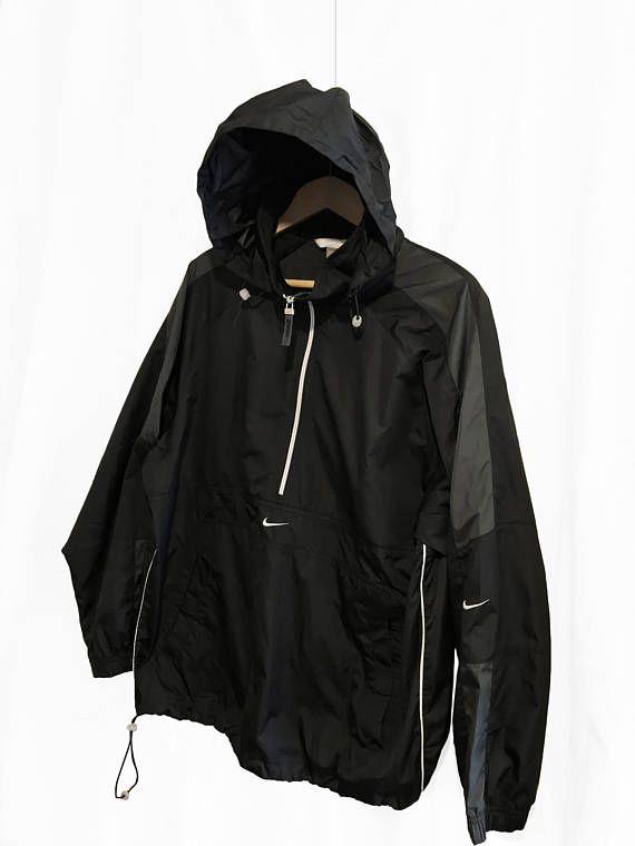 43f73382a Vintage 90s Nike Swoosh Windbreaker 1/4 Zip pullover jacket ...