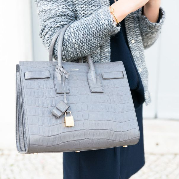 light grey alligator saint laurent sac de jour. #bagporn