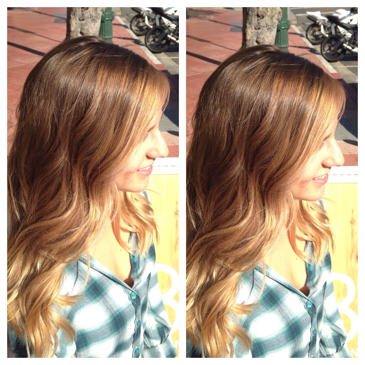 Balayage Highlights Natural Blonde Hair Color Hand Painted Sombr