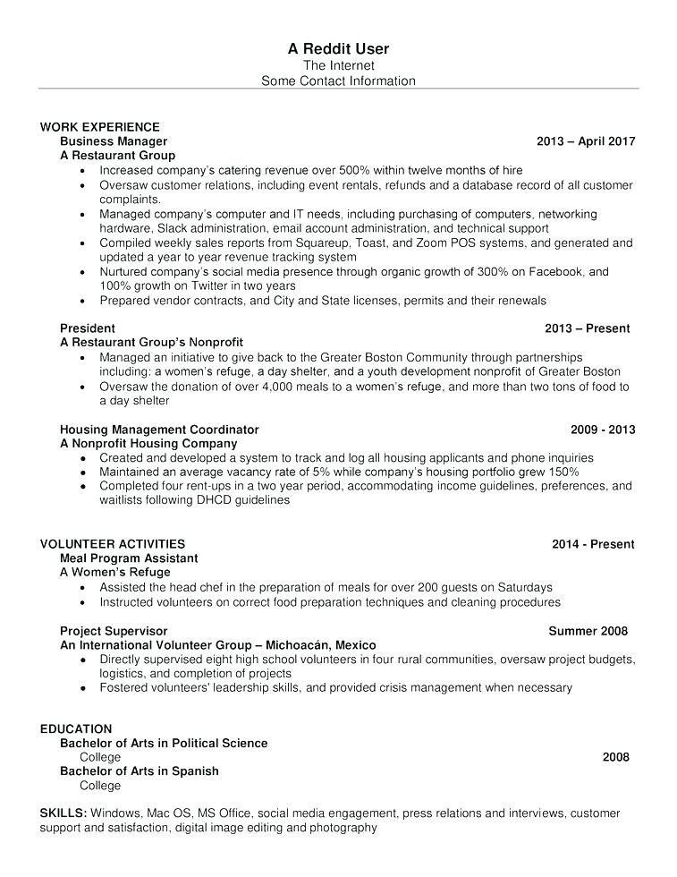 Resume Templates Reddit 2018 ResumeTemplates