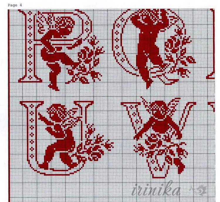 Gallery.ru / Фото #25 - Алфавит 2 - irinika | Modele de broderie, Alphabet point de croix ...