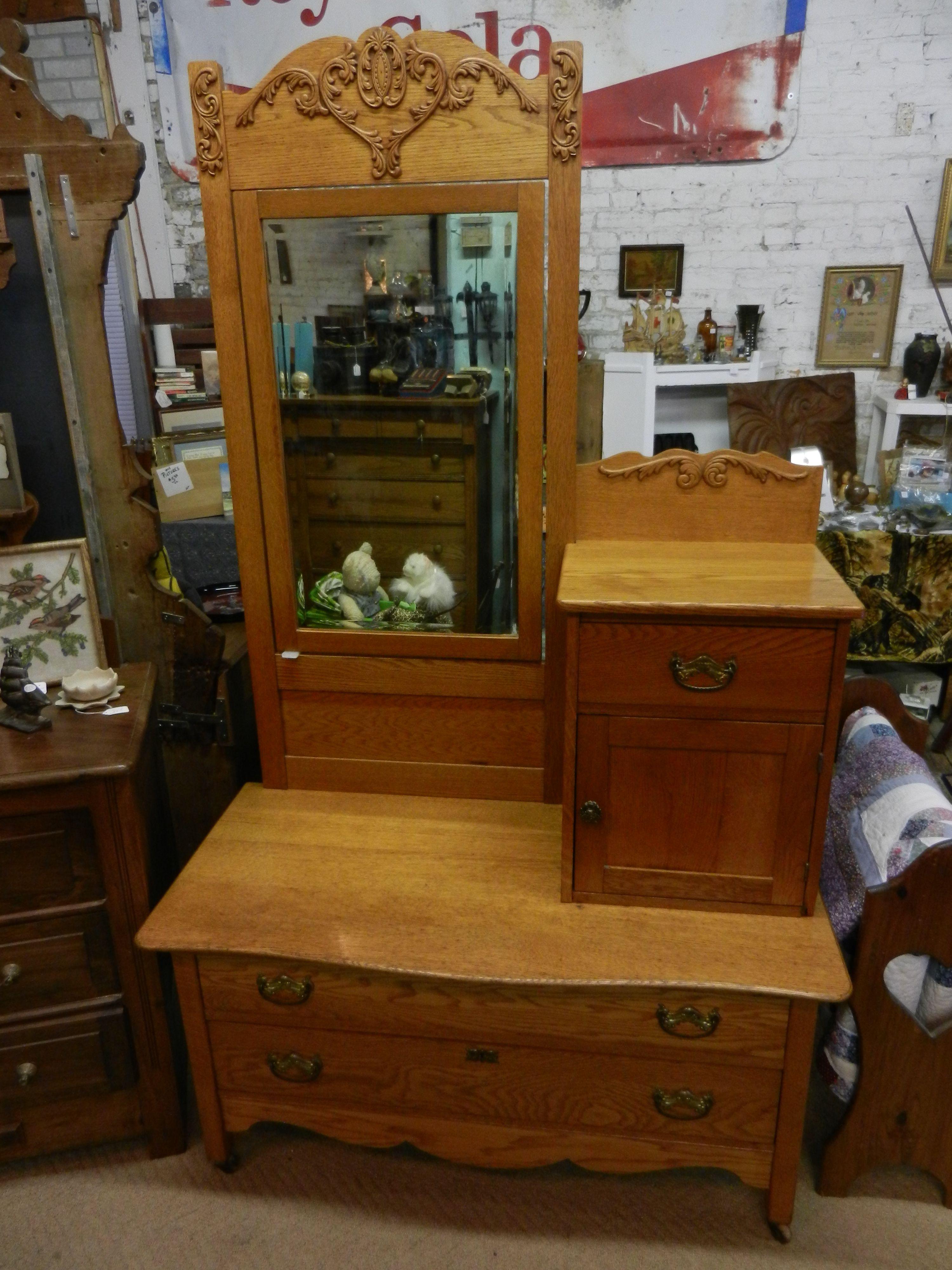 Beautiful Solid Oak Gentlemans Dresser Sold In 2019